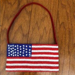 Usa American Flag Pattern Women Purses Ladies